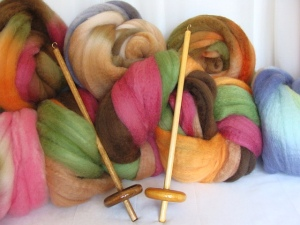 yarn spindle, spindle kit, handspun yarn, handspun wool, spindle spun yarn