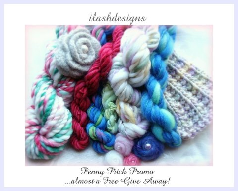 handspun yarn give away, wool give away, penny give away