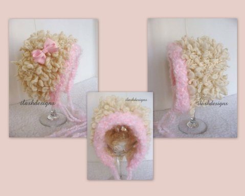 knit hat pattern, little lamb pattern, knit hat pattern