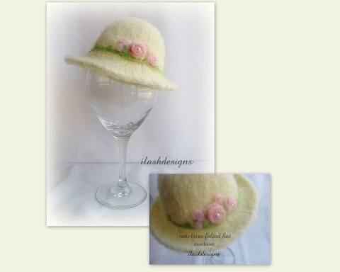 felted newborn hat, felted wool hat, newborn photography prop