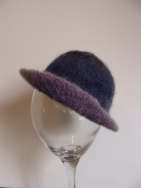 felted newborn hat, baby felt hat, wool felt hat, purple baby hat,