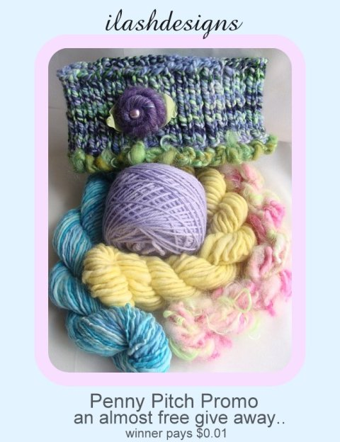 handspun give away, yarn give away, handspun  yarn promo,